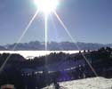 After hiking up here we are rewarded by the magnificant view from Rigi