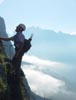 The Klettersteig above Gadmen offers fine climbing almost for everyone